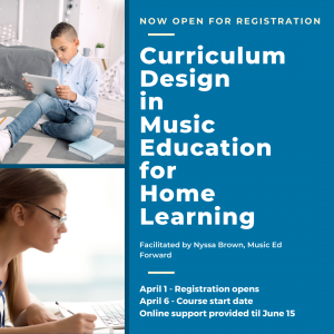 Curriculum Design in Music Education for Home Learning